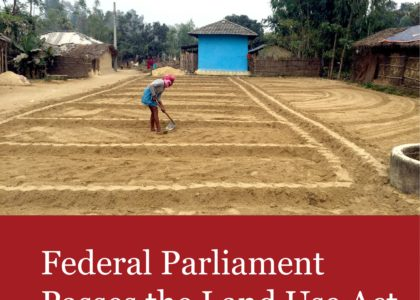 Federal Parliament Passes the Land Use Act
