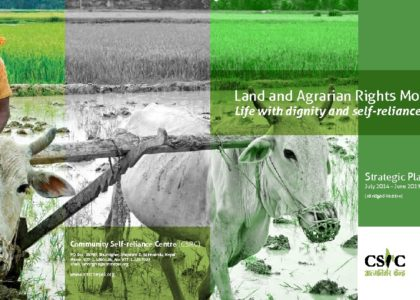 Land and Agrarian Rights Movement Life with dignity and self-reliance