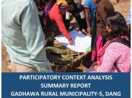 Participatory Context Analysis Summary Report: Gadhawa-5, Dang