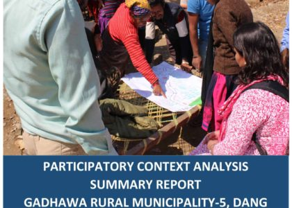 Participatory Context Analysis Summary Report: Gadhawa-5, Dang