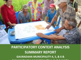 Participatory Context Analysis Summary Report: Gauradaha, Shivasatakshi, Jhapa