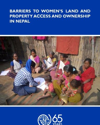 Barriers to Women's Land and Property Access and Ownership in Nepal